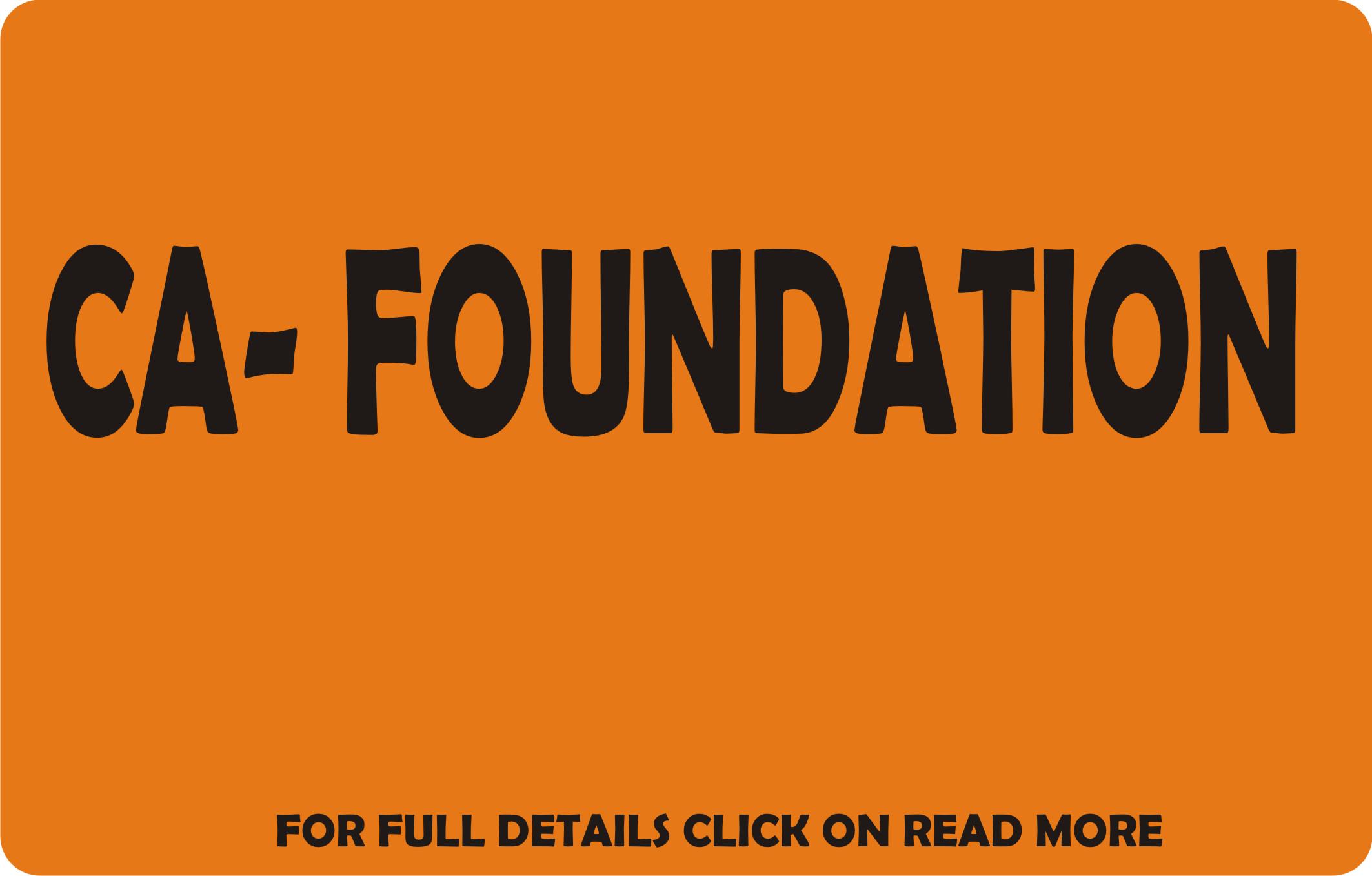 CA Foundation